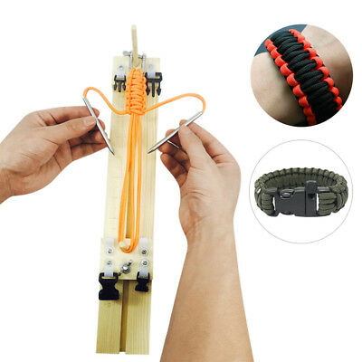 DIY Jig Paracord Bracelet Maker Wood Parachute Cord Wristband Makers Craft Tool
