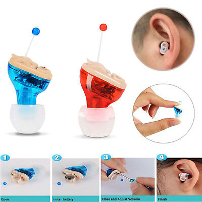 Mini Hearing Aid Cic Invisible Left Right Small Sound Voice Amplifier Enhancer