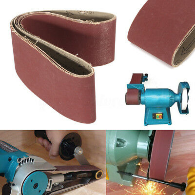 5pcs 100mm X 915mm 914 Sanding Belt Belts 60 - 800 Grit Heavy Duty Cloth Backed