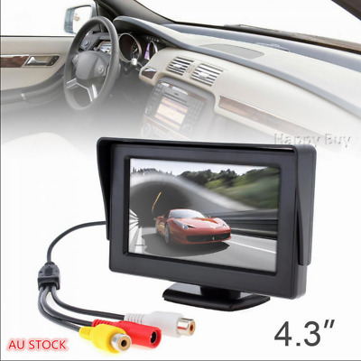 "4.3""  LCD Screen Car Rear View Reverse Monitor DVD VCR For Backup Camera"