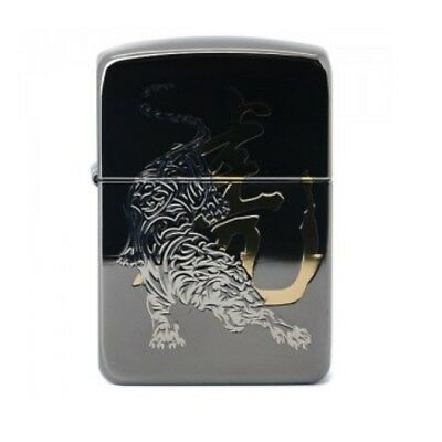 Zippo Lighter 1941 TIGER 2 BLACK Brushed Brass Engrave Simple Windproof USA