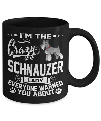 Crazy Schnauzer Lady Coffee Mug, Cup
