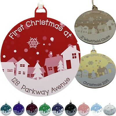 First Christmas New Home Decoration Personalised 1st Xmas Tree Bauble 11 Colours