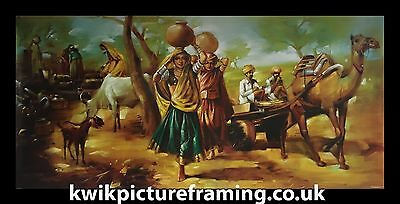 """Punjab Traditional Village In India Photo Frame Size - 40"""" X 20"""" Picture Framing"""