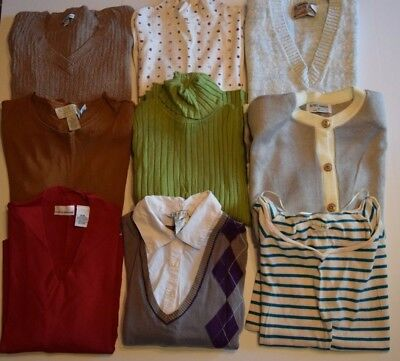 [9] Lot Women's Knit Tops Sweaters M Croft & Barrow, London Fog FREE SHIPPING!!!