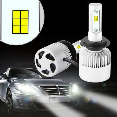 H1/H4/H7 600W 72000LM S2 CREE LED Headlight Car Driving Lamp Beam Bulbs 6500K
