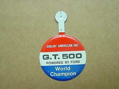Rare 1967 Shelby American Power By Ford Gt500 World Champion Pin Badge