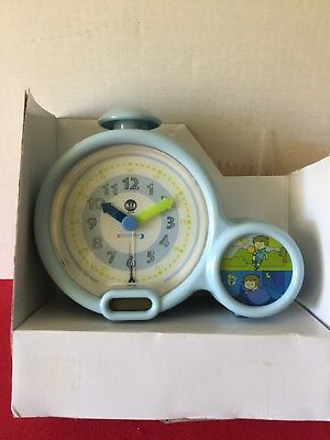 Blue NIB Claessens' Kid'Sleep Classic Sleep Trainer Night Light Alarm Clock LED