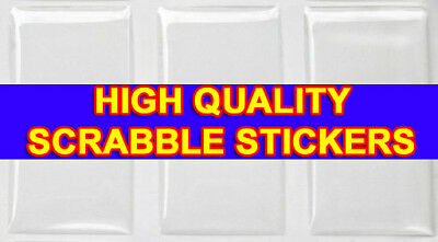 1000 QTY - HIGH QUALITY SCRABBLE TILE EPOXY STICKERS Dome Pendant Resin Seal