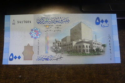 Banknote international-SYRIA 500 POUNDS 2013 (2014)-1psc -Unc