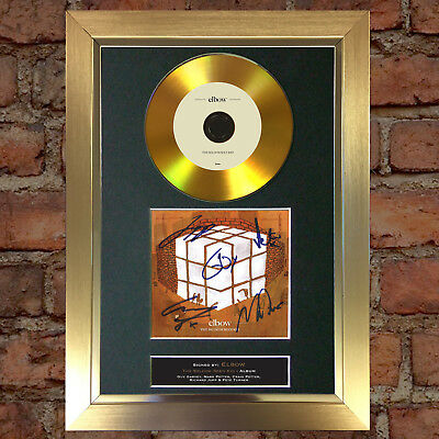 GOLD DISC ELBOW Signed CD Mounted Repro Autograph Print A4 120