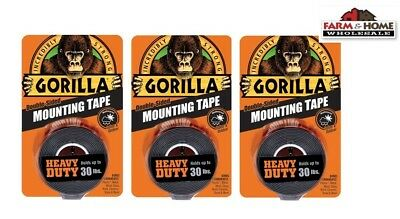 Gorilla Mounting Tape Double-Sided 30lbs ~ New