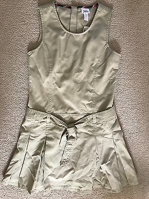 Justice Khaki Uniform Dress Girls size 12 NEW WITH TAGS