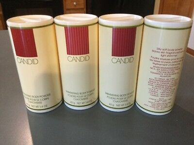 AVON Shimmering Body Powder - CANDID - Lot of 4 -- 1.4 oz ea.
