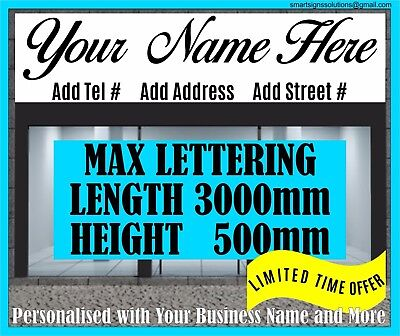 4500mm L Front Shop Sign-writing Lettering Self Adhesive Vinyl Fascia Sticker