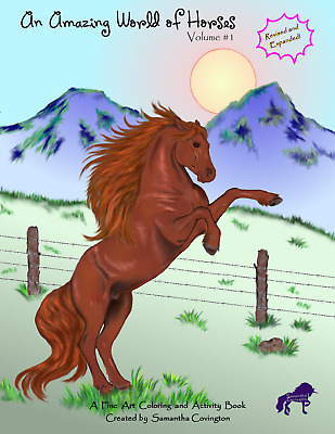 An Amazing World of Horses: Volume #1 REVISED Kids Adult Coloring Book Horse