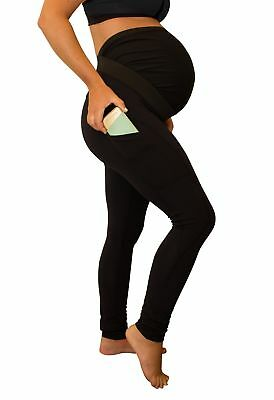 Maternity Leggings with Pregnancy Belly Support