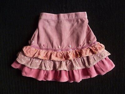 Baby clothes GIRL 12-18m (86cm) corded cotton pink frill skirt 2nd item post-fre