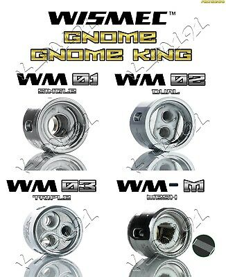 Wismec Gen3 Gnome Gnome King Coils Wm-M Mesh Wm01 Wm02 Wm03 Rba Kit Rba Base 7Ml