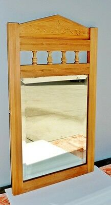 ANTIQUE KAURI PINE shabby chic MIRROR suit hall bathroom paint white BEVELLED