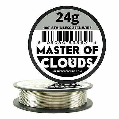 Master Of Clouds SS 316L - 100 ft. 24 Gauge AWG Stainless Steel Resistance Wire