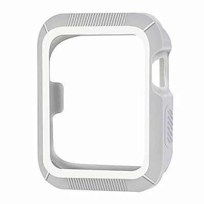 Apple Watch Case 42mm Series 1 Series 2 Protective iWatch Cover Gray/White New