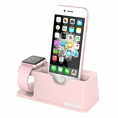 Apple Watch Stand Charging Dock for Series 1 & 2 & iPhone 7/7Plus/6/6Plus Pink