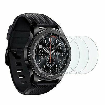 Samsung Gear S3 Screen Protector Full Cover Tempered Glass Anti-Scratch (3xPack)