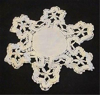Antique Vintage Snowflake Shaped Crochet Lace Doily: A Lovely, Interesting Piece