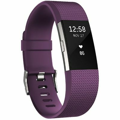 Fitbit Charge 2 Activity Tracker Plum Large