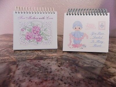 Lot 2 Garborg's day brightener quote books Precious Moments For mother with love