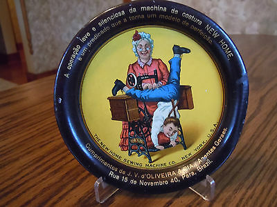 """Vintage """" New Home Sewing Machine """" Tip Tray - Brazil - No Reproduction"""