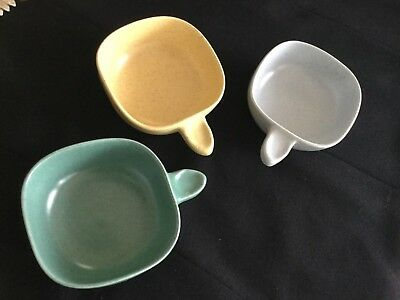 Three (3) Guy Boyd (Australian Pottery) Square Ramekins (Set #4)