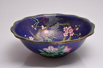 """Large Antique Chinese Cloisonne Bowl- 10""""inch diameter top"""