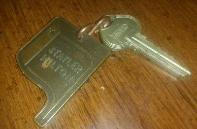 Vintage Collectable Statler Inn Hotel Key And Fob Dayton, Oh Rm1038 Russwin Key