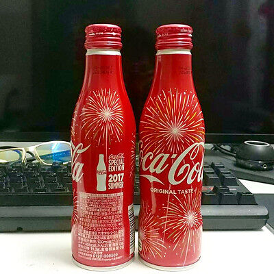Rare Coca Cola 2017 Japan Slim Special Hanani Fireworks Empty Bottle 250ml