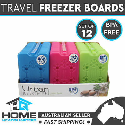 Set of 12 Freezer Boards Lunch Blocks Box Cooler Flat Style Travel Ice Pack