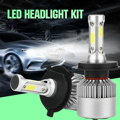 2pcs H4 9003 HB2 72W 8000LM Chic LED Headlight Car Hi/Lo Beam Bulbs Light 6000K