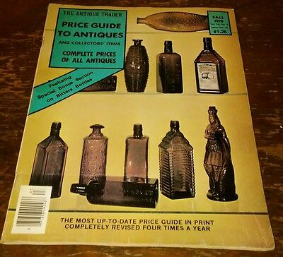 Price Guide to Antiques Trader Magazine FALL 1976 FOCUS: BITTERS BOTTLES