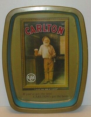 Carlton Draught Beer full metal design drinks pub tray for home bar collector