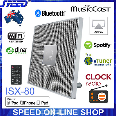 Yamaha ISX-80 MusicCast Bluetooth AirPlay Clock Radio 30W Speaker – White