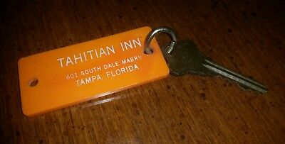 Vintage Tahitian Inn Fob And Key Tampa, Florida Curtis I D. Key # 129