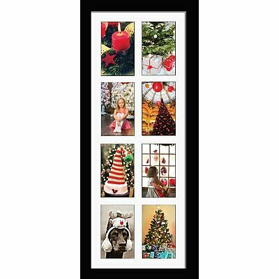 """Large multi picture photo aperture frame 7""""x5"""" inches with 8 openings Portrait"""