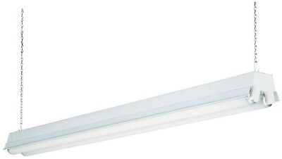 Lithonia Lighting Fixture 2-Light White T8 Fluorescent Residential Shop Light