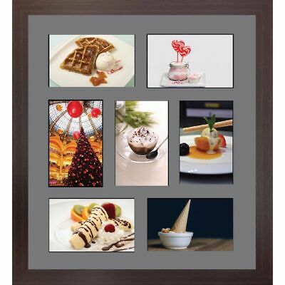 LARGE MULTI PICTURE photo aperture frame A4 size with 7 openings ...