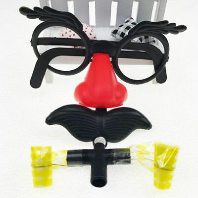 1 Set Party and Club Supply Nose Glasses Costume Wedding Photo Booth