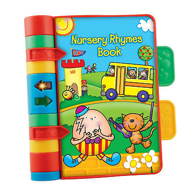 New Classic Multi-Coloured Plastic Pages Baby Nursery Rhymes Educational Book