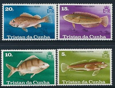 1978 Tristan Da Cunha Fish Set Of 4 Fine Mint Mnh