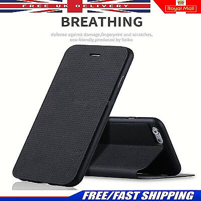 Ultra Slim PU Leather Breathing Wallet Case Flip Cover For iPhone X 8 8 Plus 7