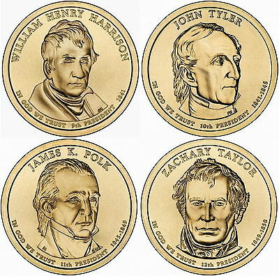 2009 (9th to 12th) US President - Four $1's Uncirculated Coin